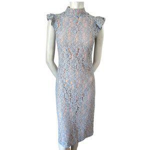 Massimo Fabbro Periwinkle Lace Midi Dress S